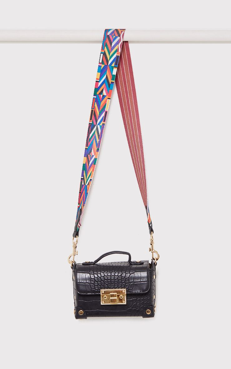 Mika Black Tape Strap Snake Bag