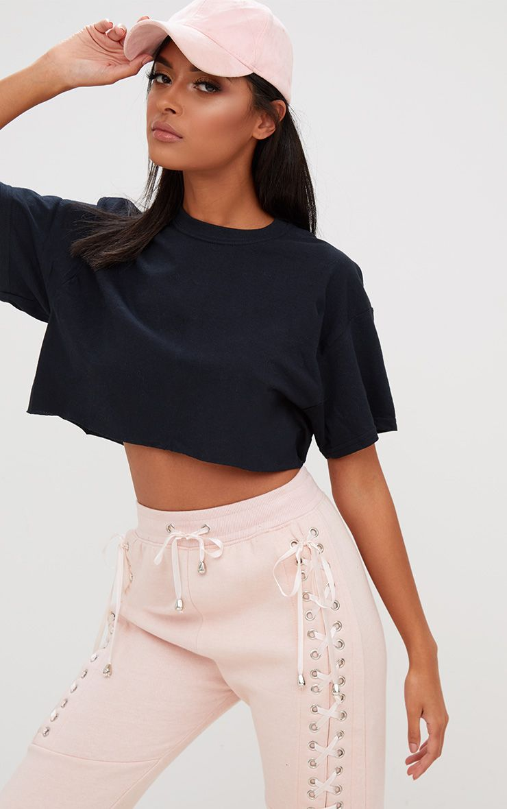 Black Crop T Shirt