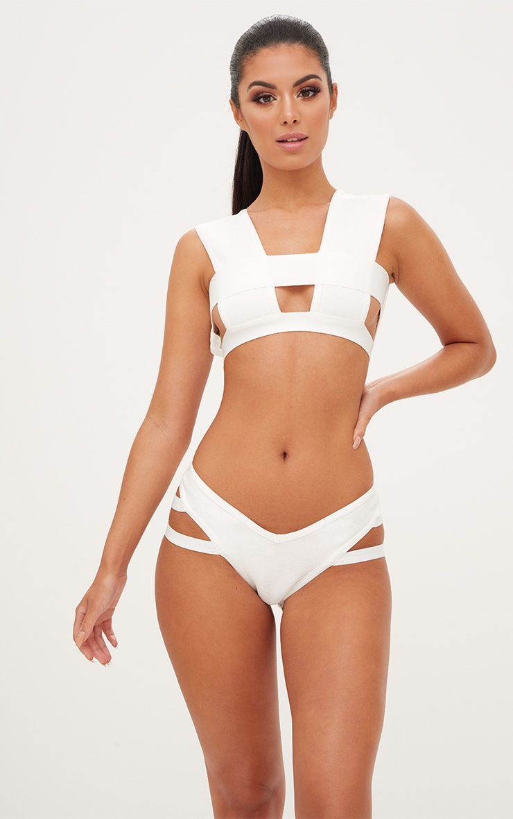 White Bandage Bikini Set