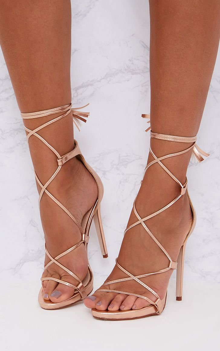 Rose Gold Lace Up Shoes