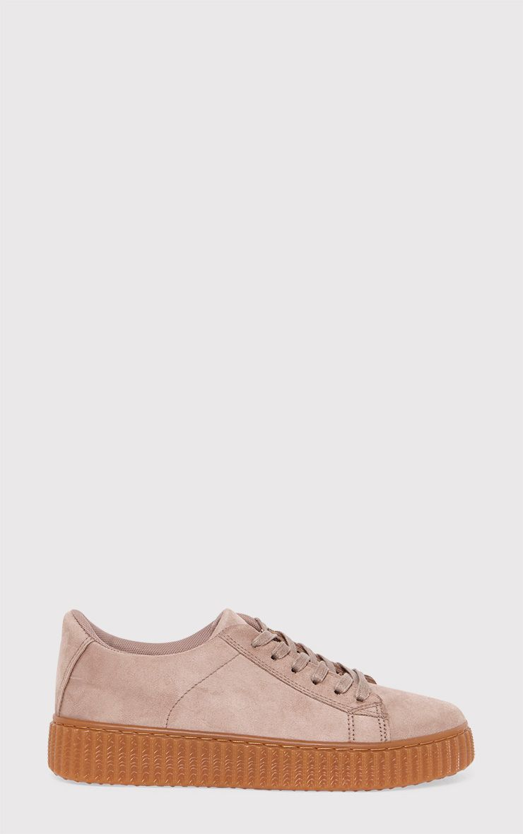Kailey Nude Faux Suede Creepers