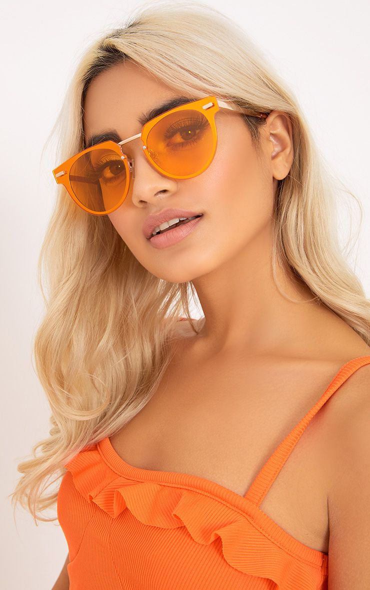 Cellie Orange Lens Wayfarer Sunglasses