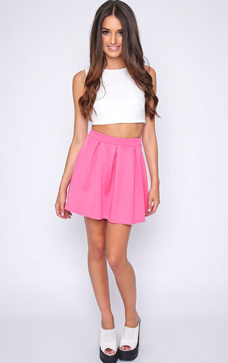 Matisse Pink Skater Skirt  1