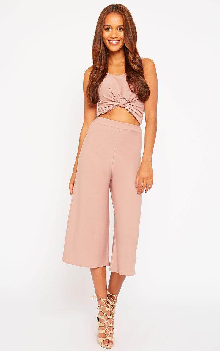 Zafia Dusty Pink Culottes 1