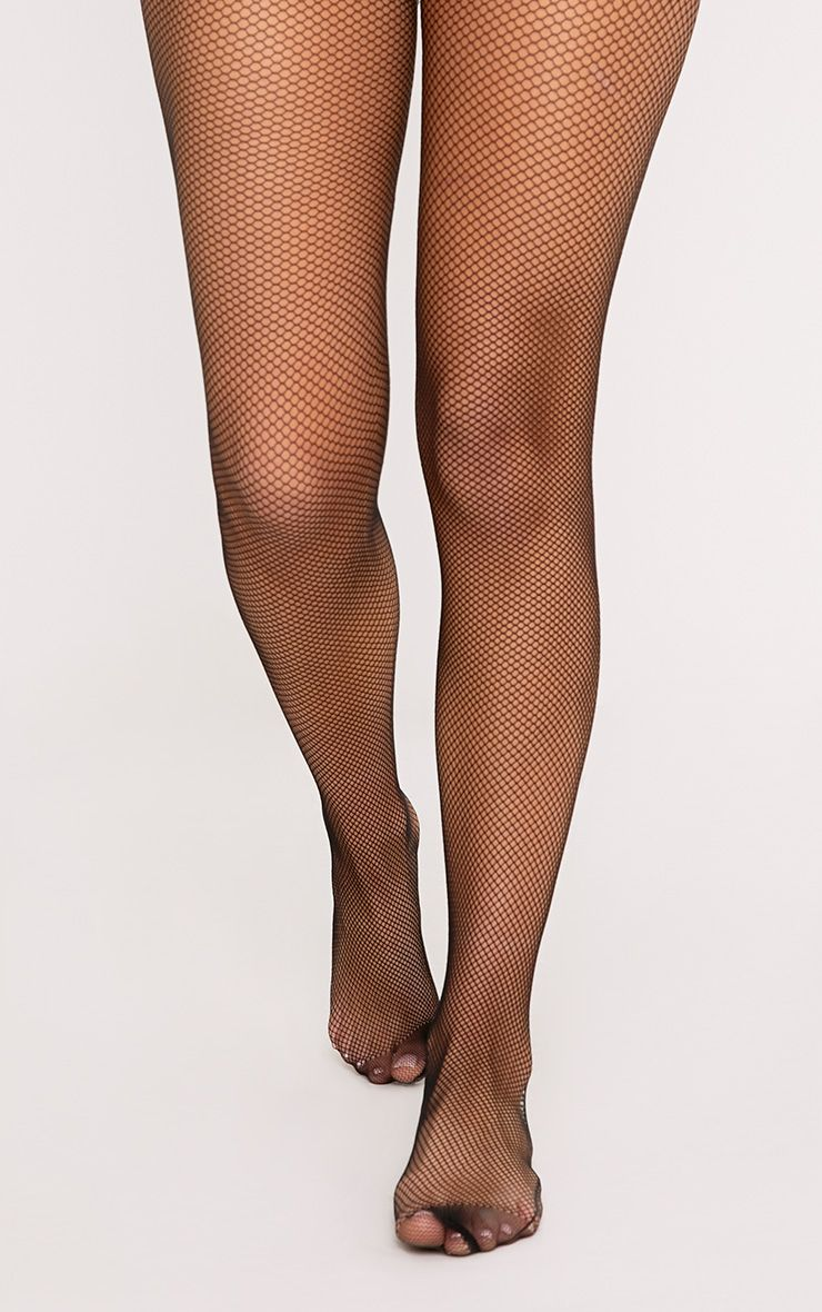 Marie Black Diamante Back Fishnet Tights