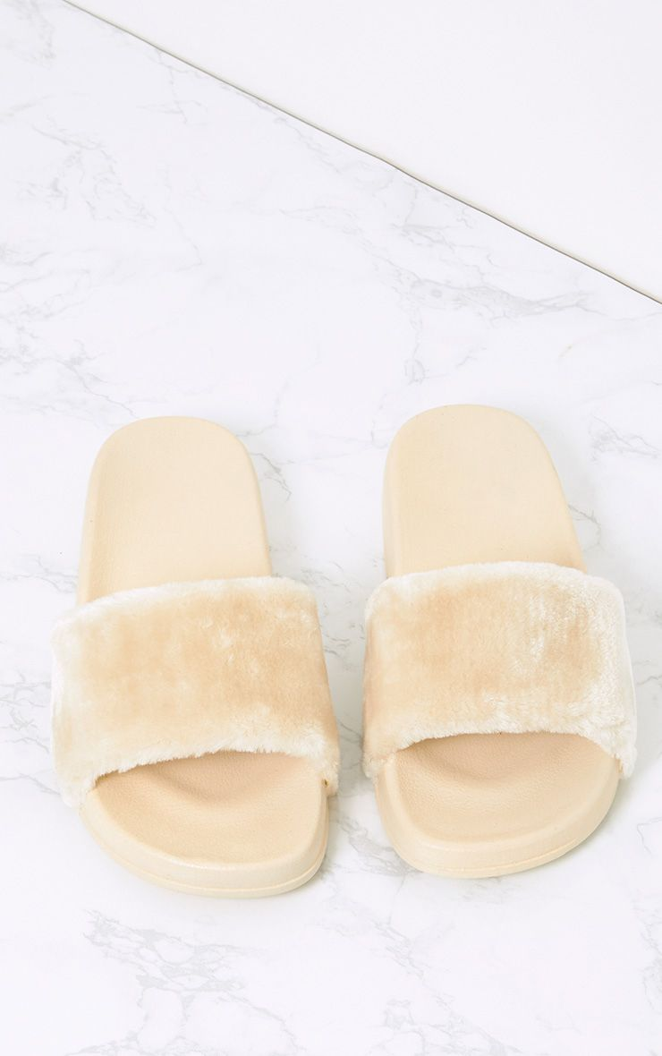 Robynn Cream Fluffy Sliders