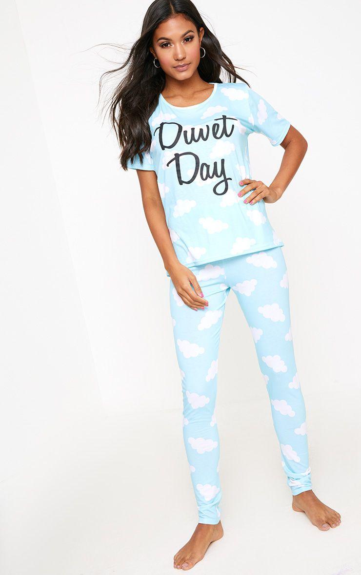 Blue Duvet Day Blue Leggings PJ Set