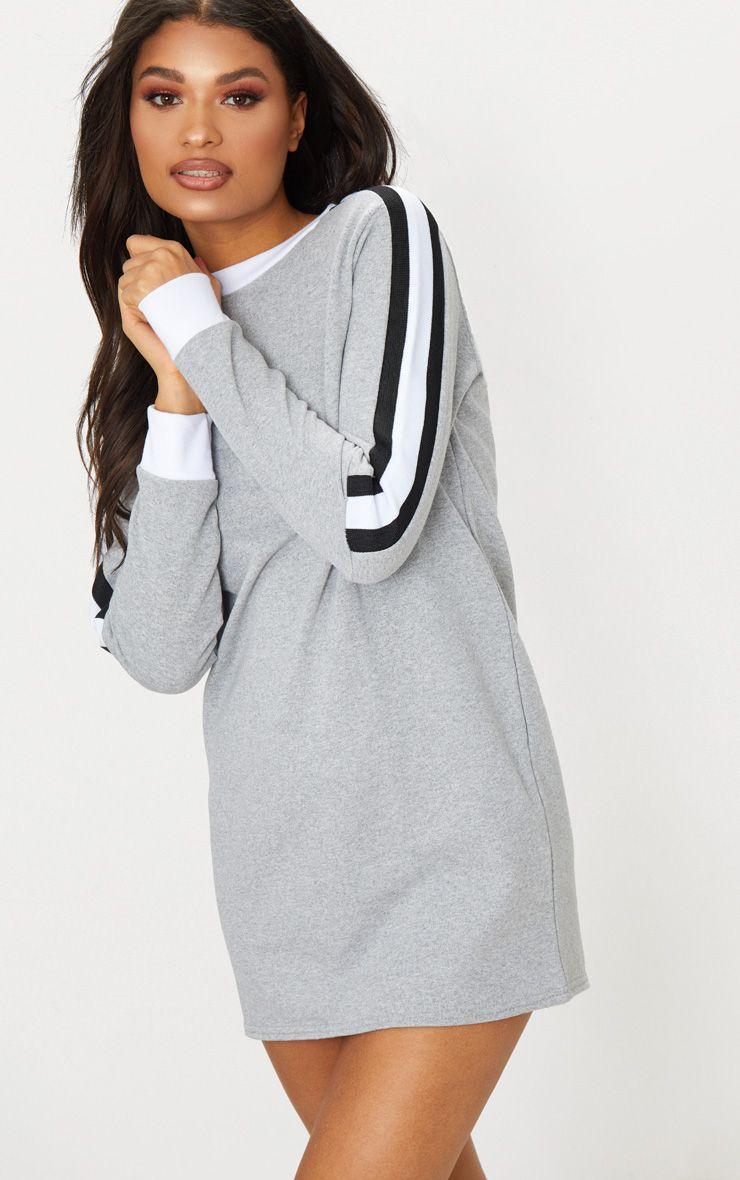 Grey striped oversized t shirt dress dresses for 20 34 35 dress shirts