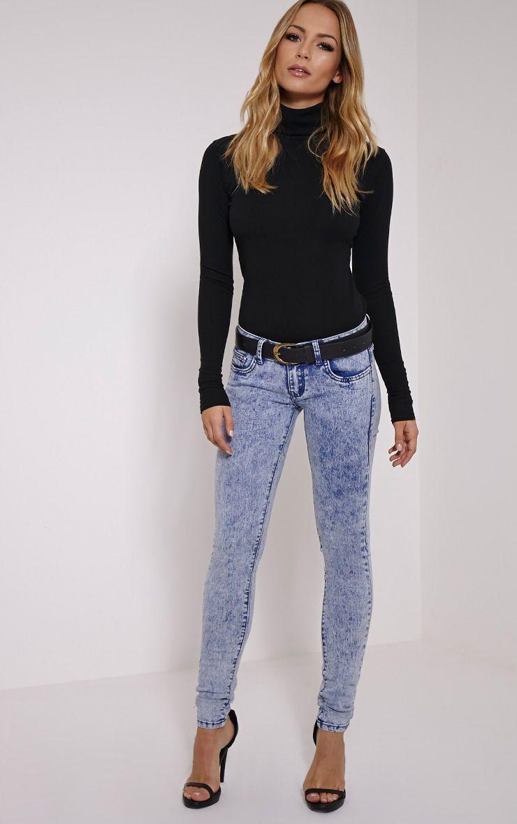 Celestina Blue Acid Wash Skinny Jean 1