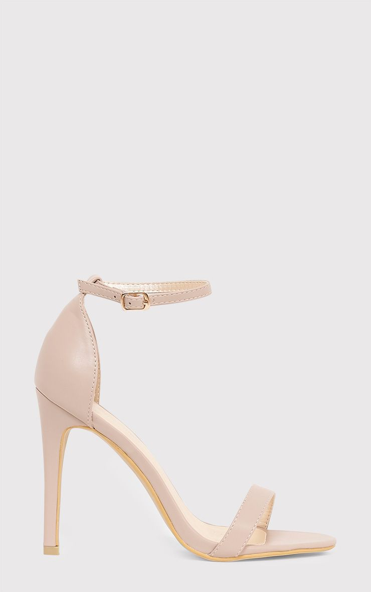 Clover Nude Strap Heeled Sandals