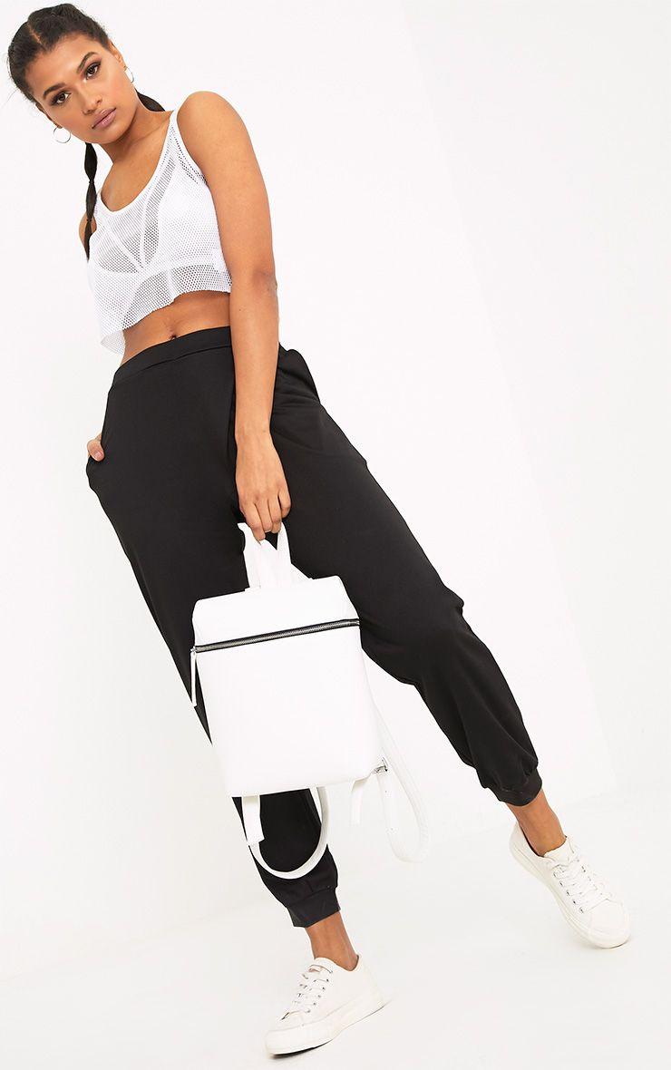 Luisa Black Jersey Wrap Peg Joggers