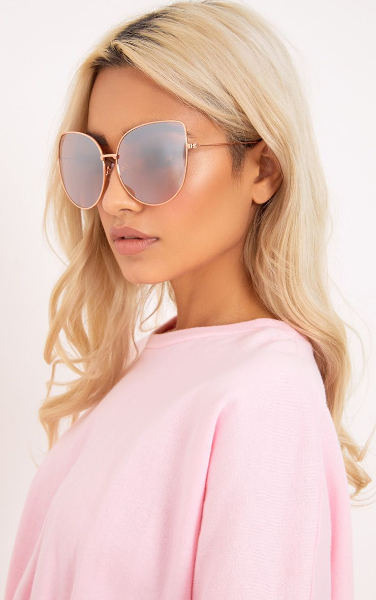 Krista Gold Oversized Cat Eye Sunglasses