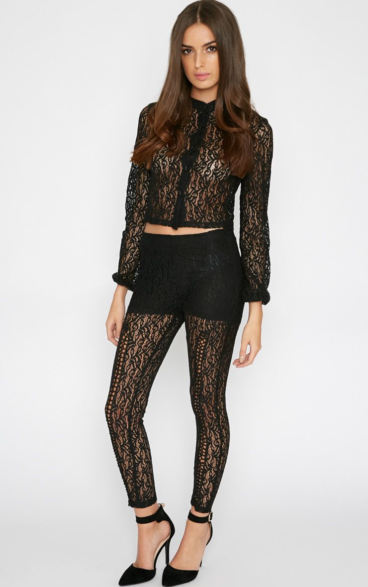Hana Black Lace Trouser 1