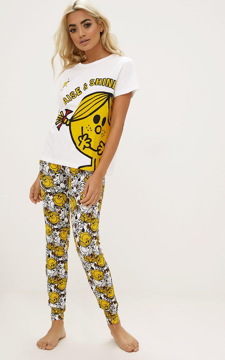 White Little Miss Sunshine Legging PJ Set