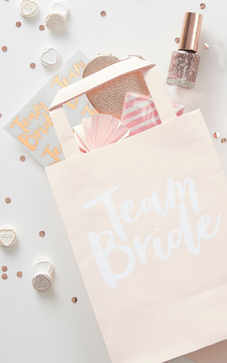 'Team Bride' Pink Party Bags