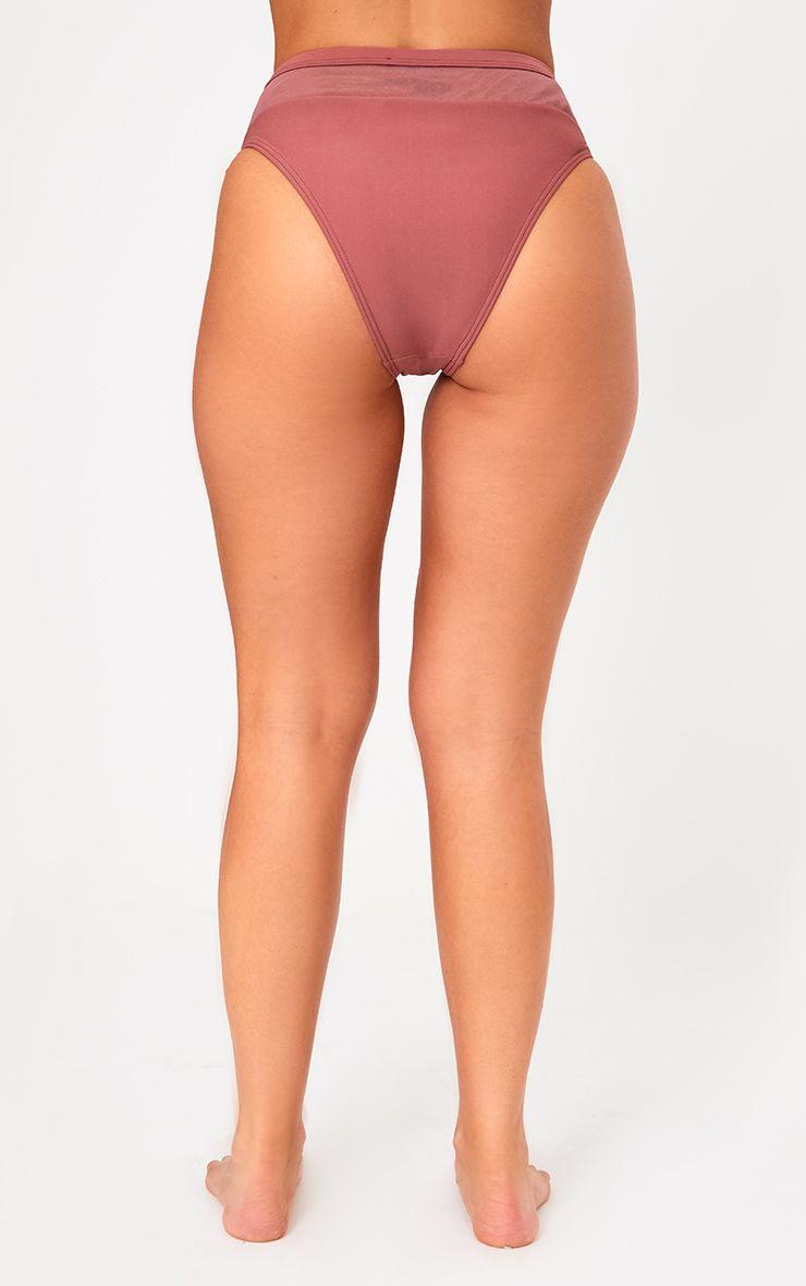 Rose Mesh Insert Bikini Bottoms 4
