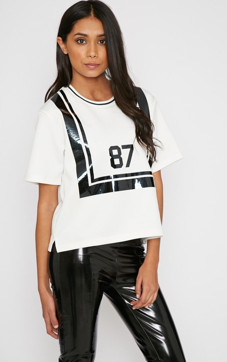 Camilla White Sports '87' Box Tee 1