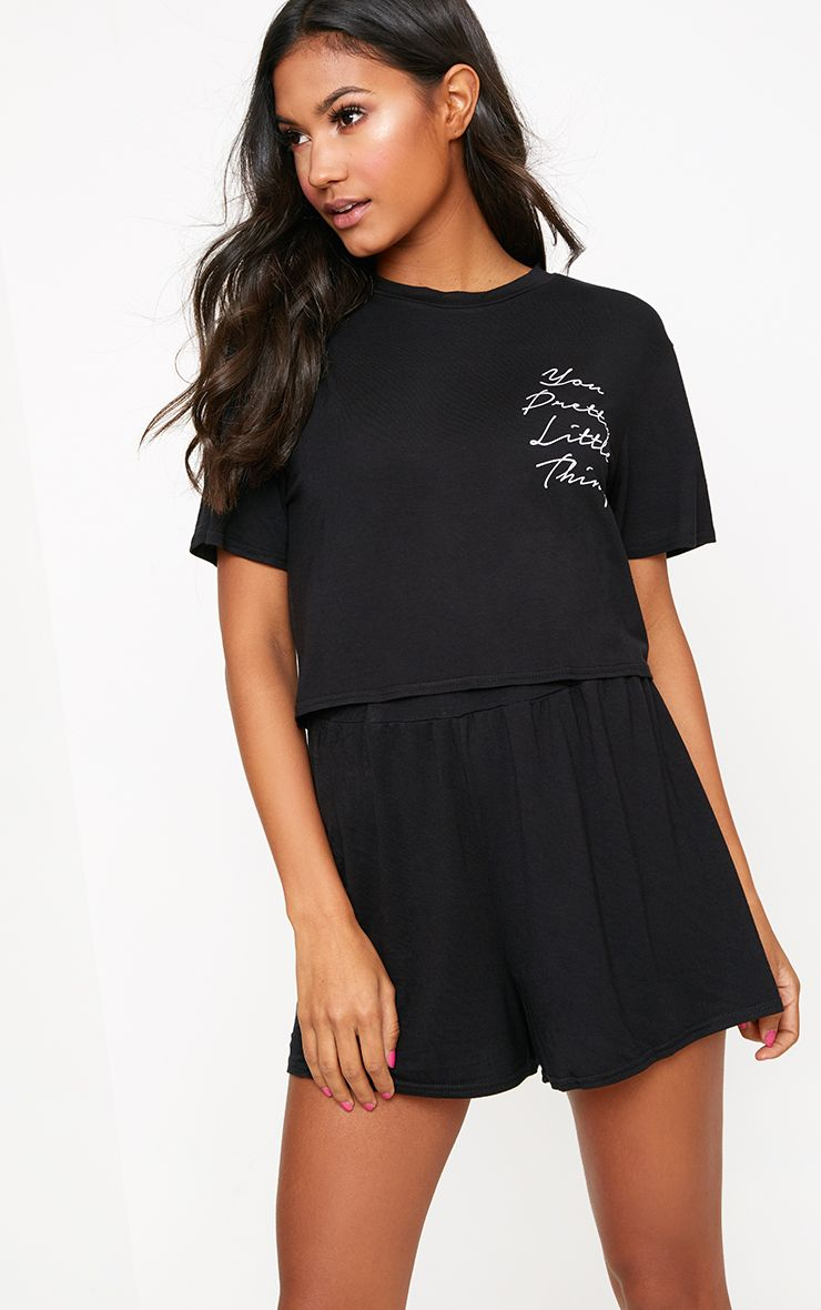 Black You Pretty Little Thing PJ Set