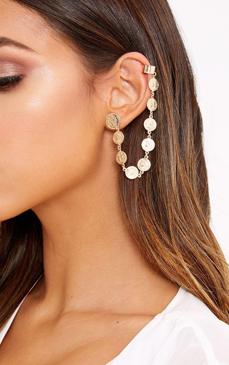 Naia Gold Coin Ear Cuff
