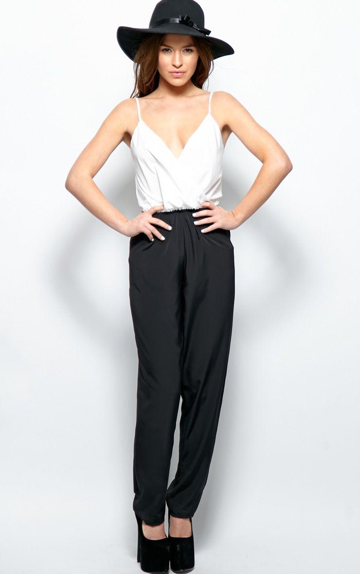 Caitlyn Monochrome Silky Jumpsuit 1