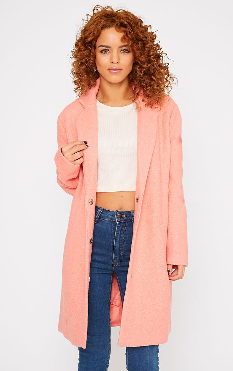 Tammy Coral Wool Coat 1