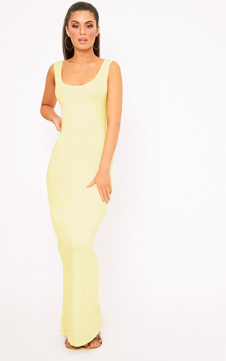 Lemon Racer Maxi Dress