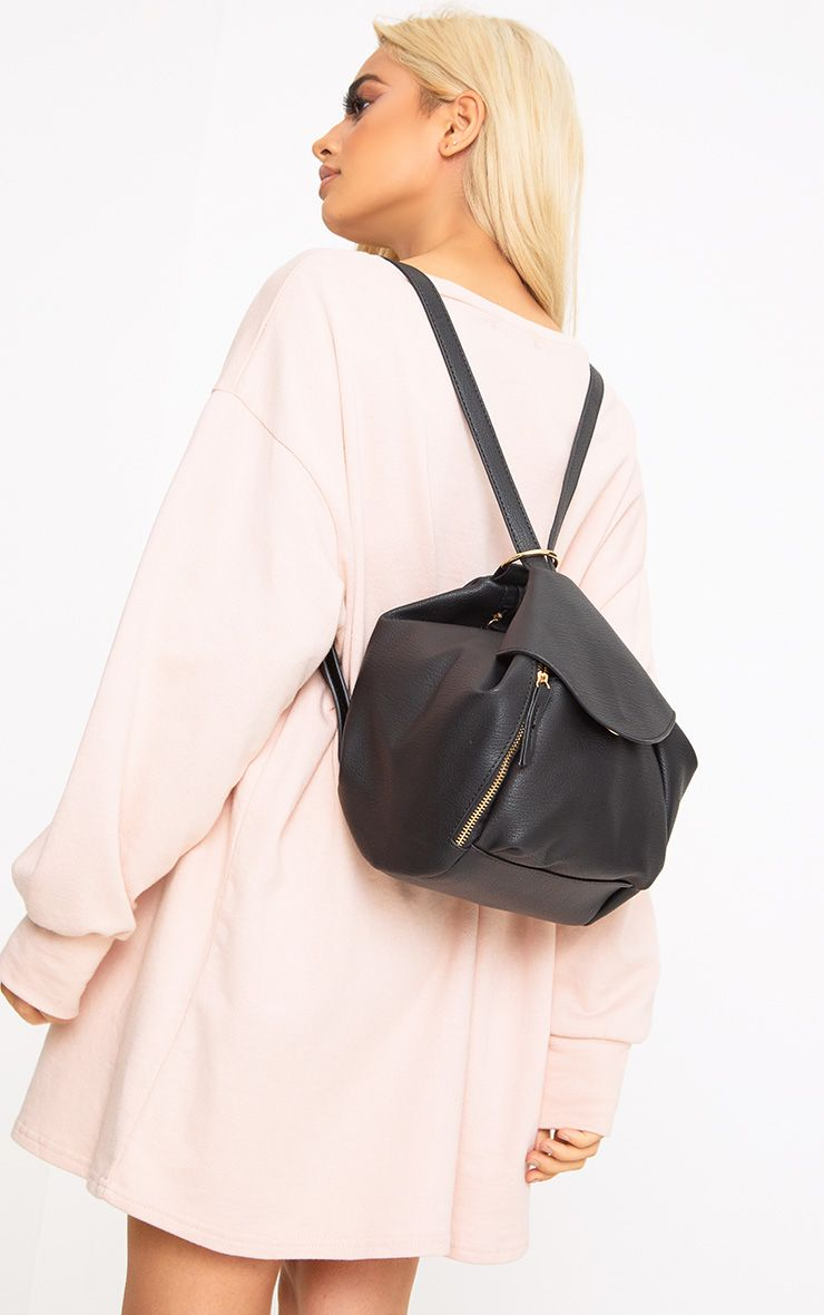 Black Circle Detail Versatile Backpack