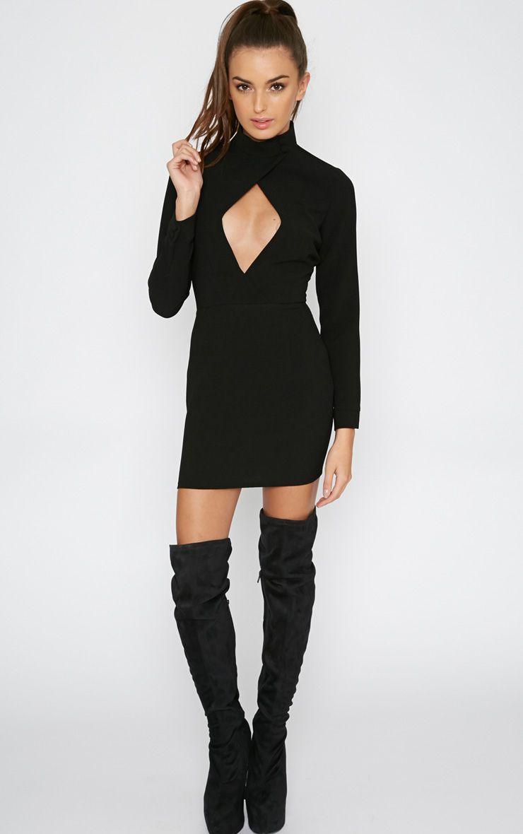 Edie Black Cut Out Dress 1