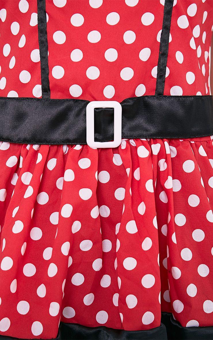 Costume de souris robe rouge à pois 6