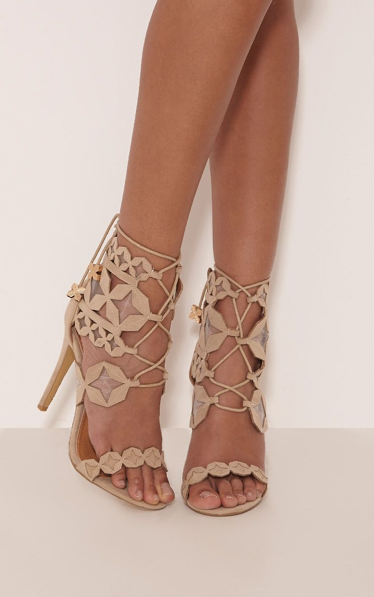 Esmee Stone Lace Up Star Strap Heels