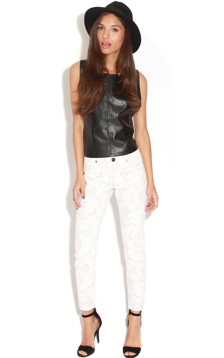 Blossom Light Floral Jeans 1