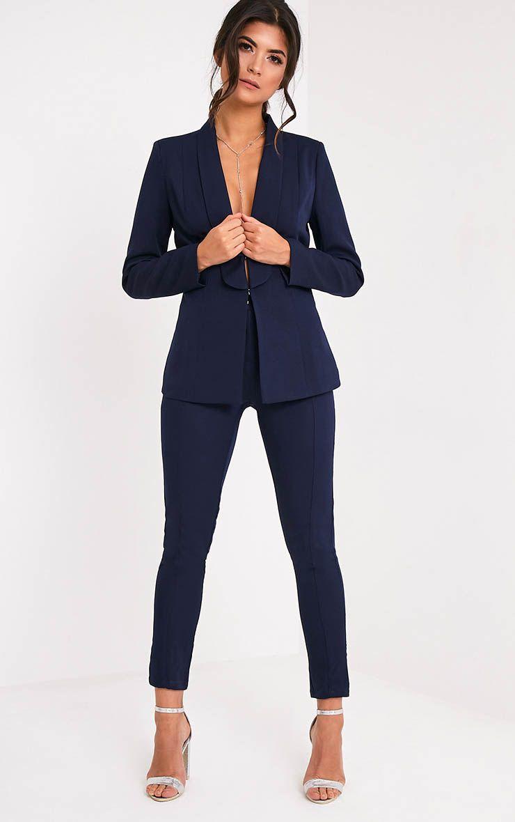Avani Navy Suit Trousers