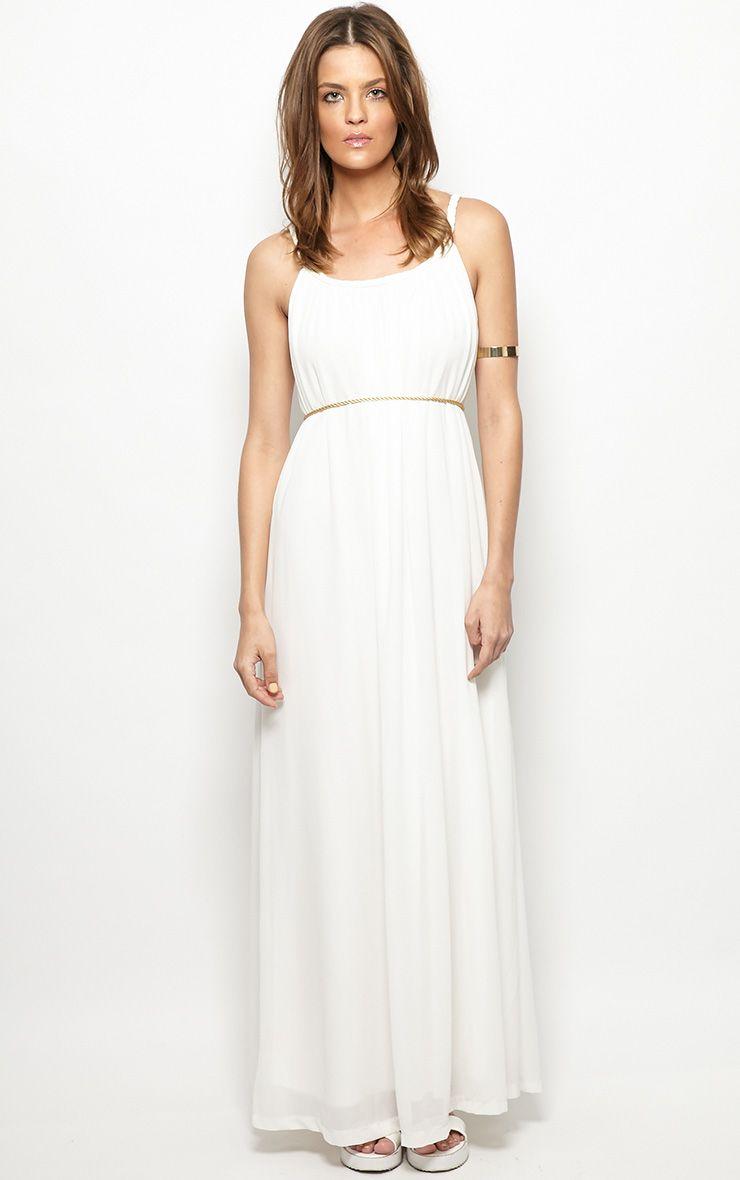 Julian White Chiffon Maxi Dress 1
