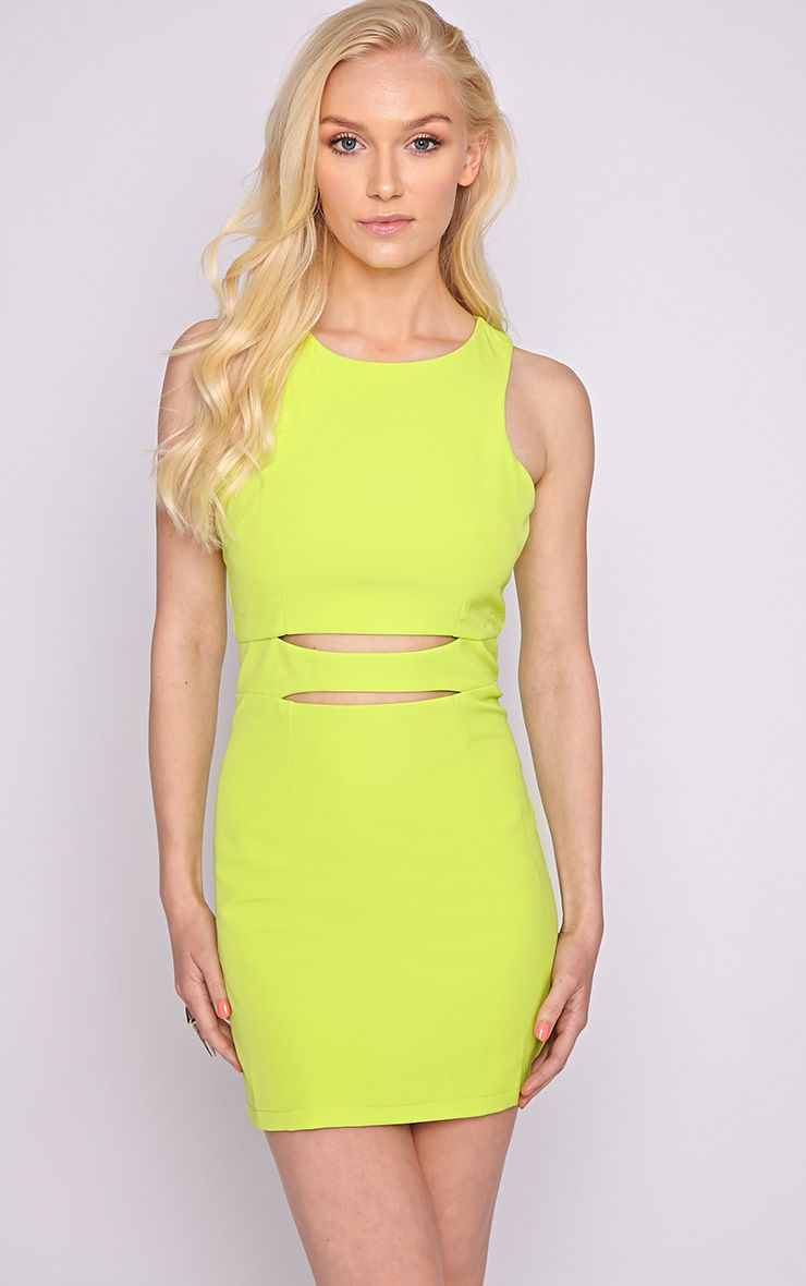 Blair Lime Cut Out Dress 1