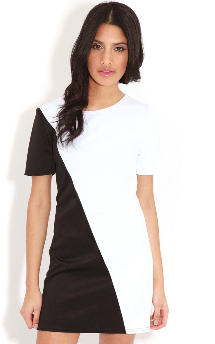 Jadie Monochrome Scuba Dress 1