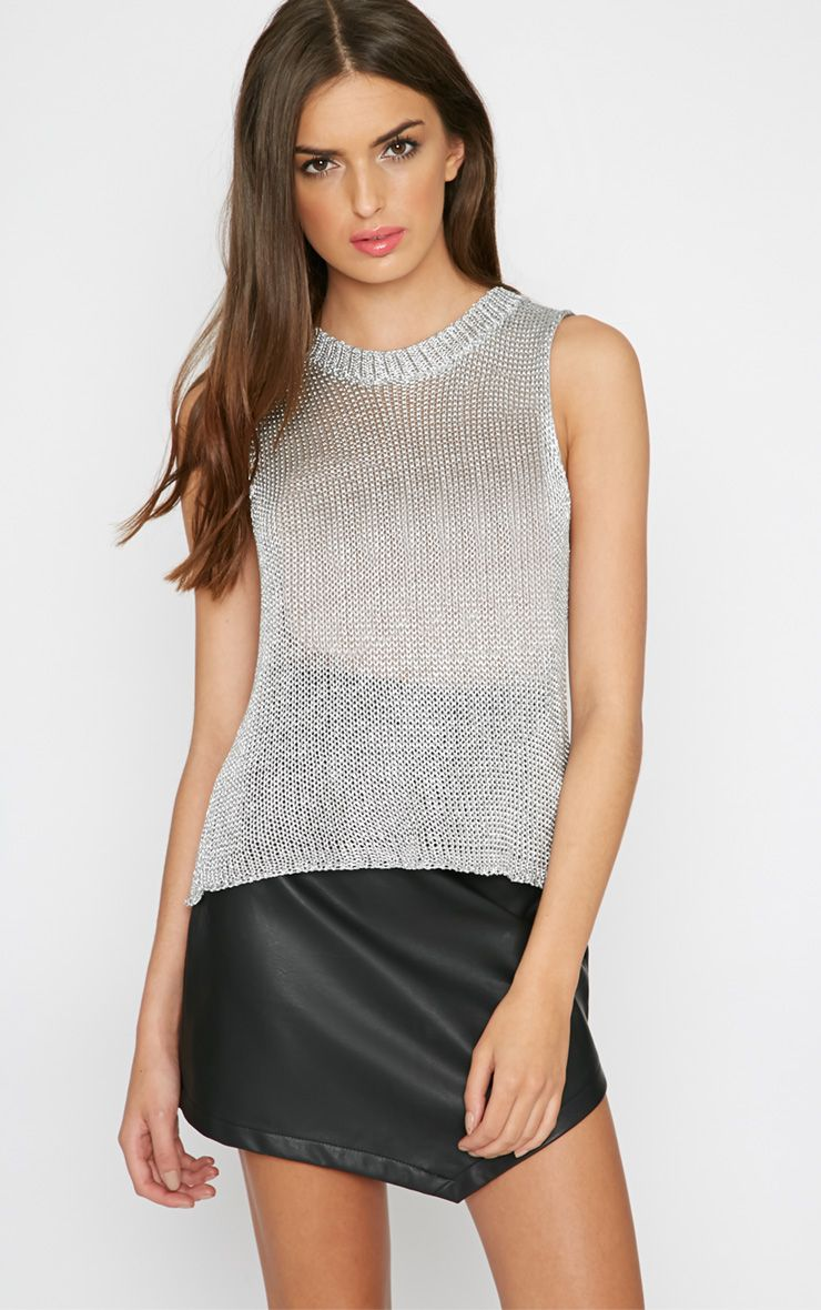 Naja Silver Knitted Vest 1