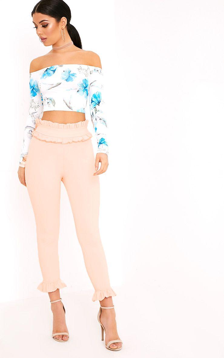 Keren Blush Frill Trim Trousers