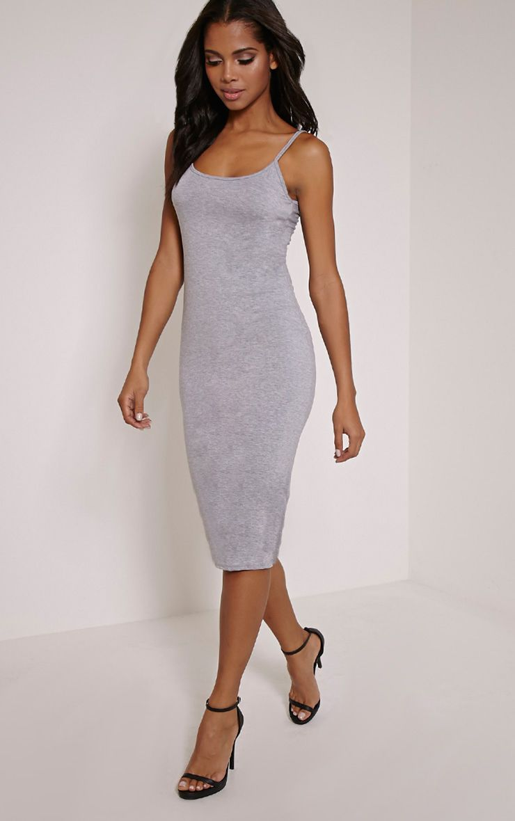 Basic Grey Midi Vest Dress 1
