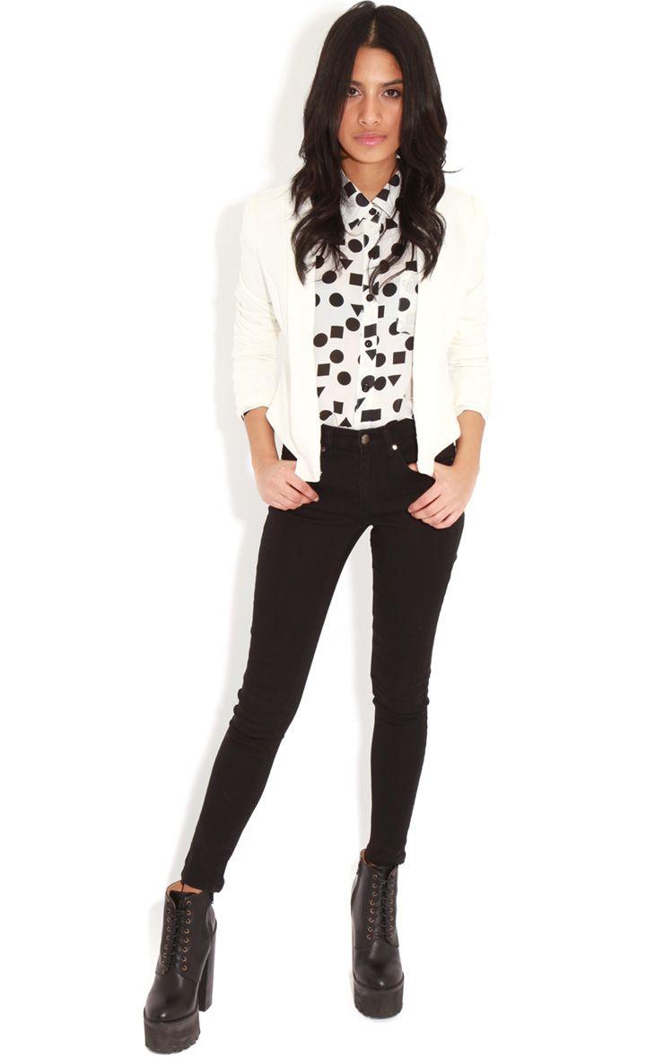 Kimmy Black Skinny Jeans 1
