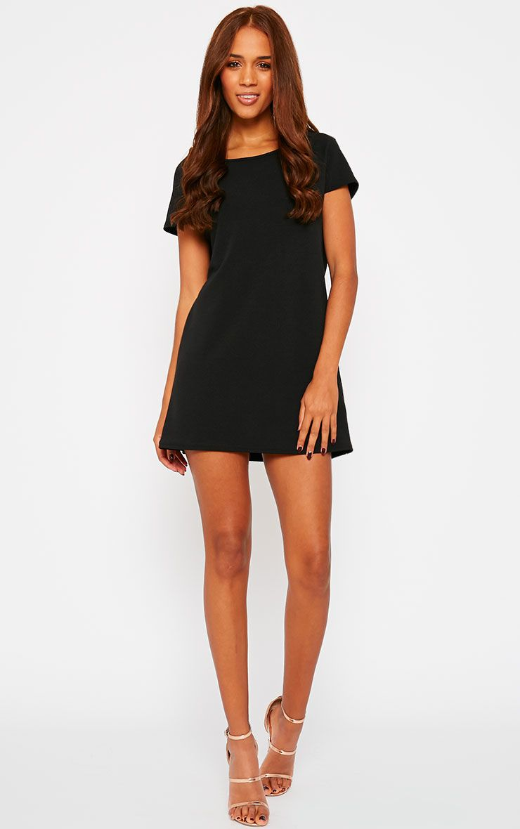 Camila Black Loose Fit Shift Dress 1