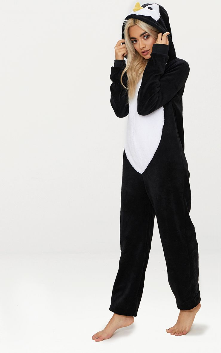 Black Penguin Onesie