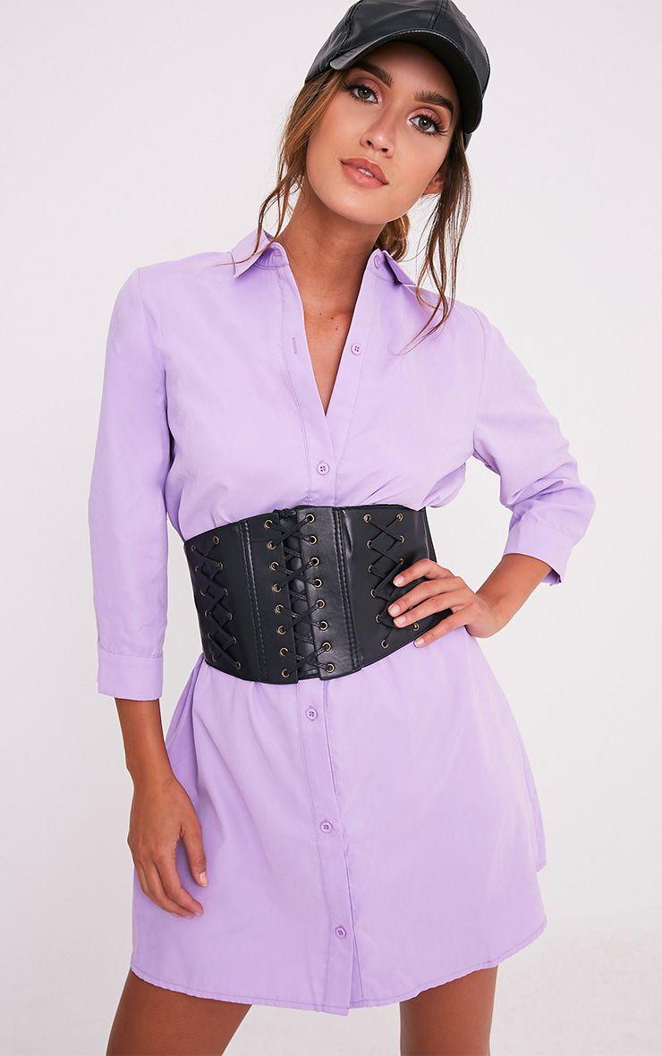 Leni Lilac Shirt Dress 1