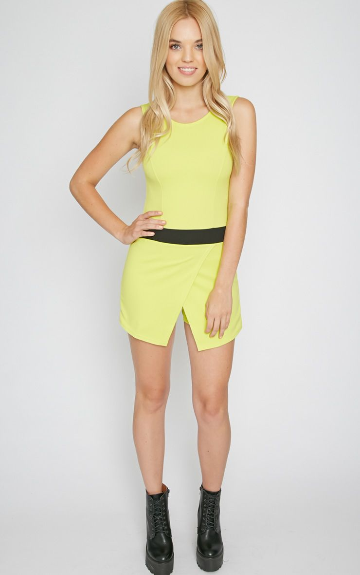 Tessie Lime Skort Playsuit  1