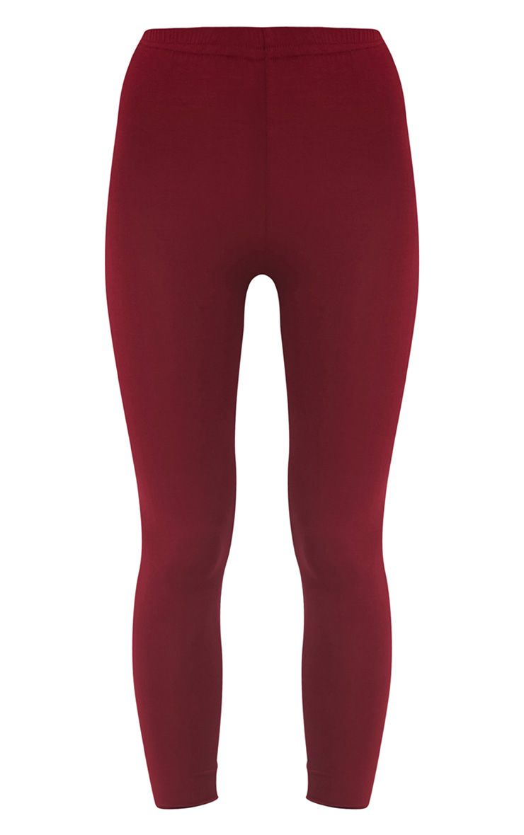 Basic legging en jersey bordeaux 3