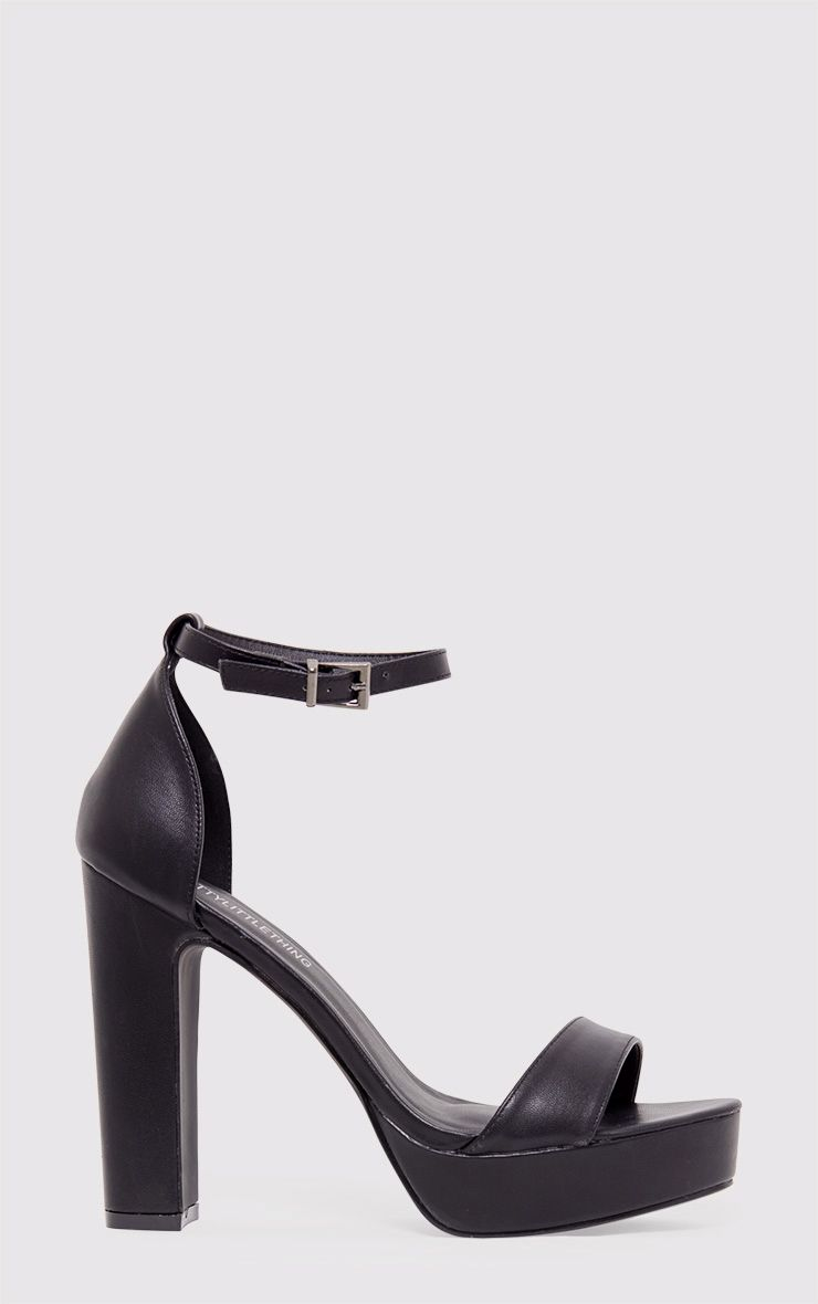 Taya sandales à plateformes noires en vinyle 2