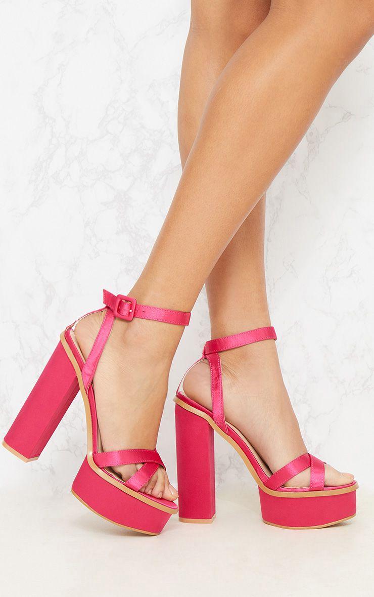 Fuchsia High Platform Sandal