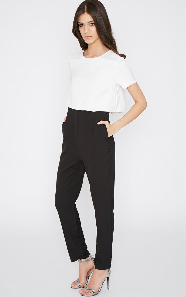 Dorris Monochrome Layered Jumpsuit  1