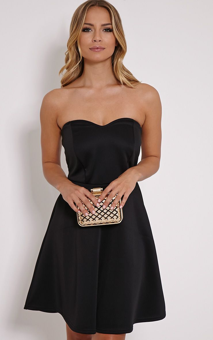 Abigail Black Bandeau Skater Dress 1