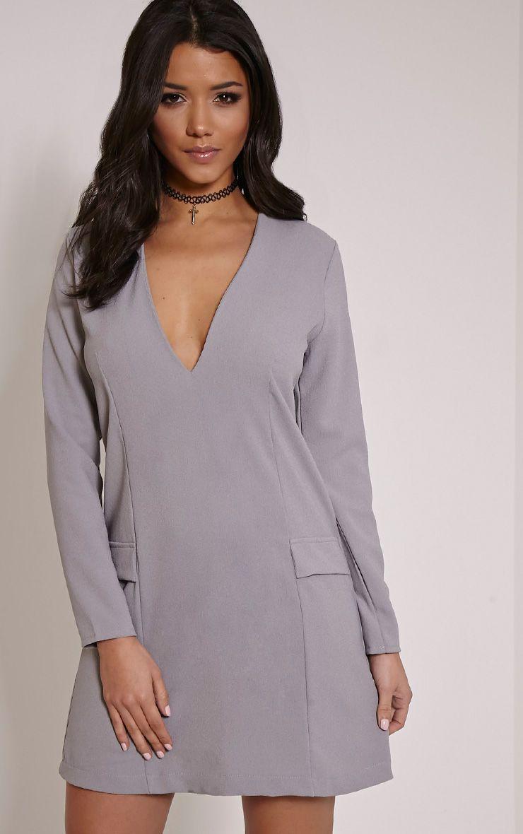 Jemima Grey Loose Fit Blazer Dress 1