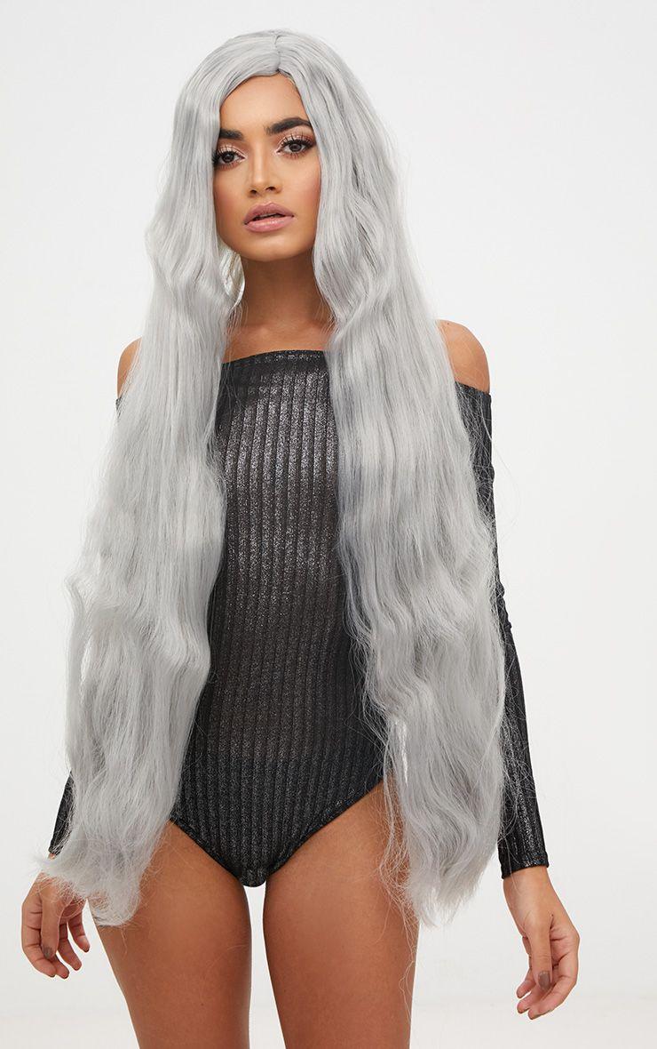 Halloween Grey Extra Long Wig